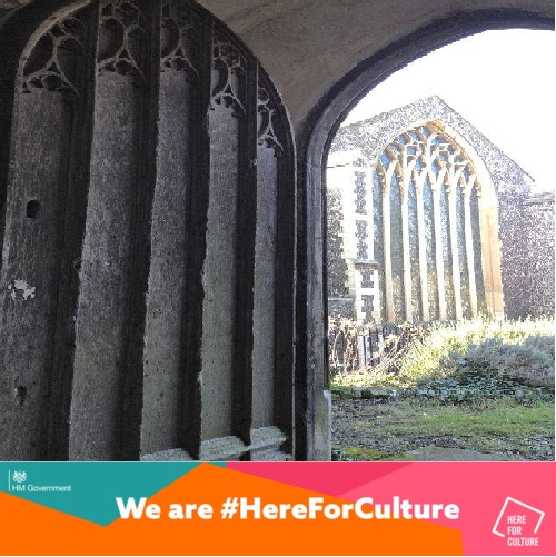 DCMS 'Here For Culture' banner immage